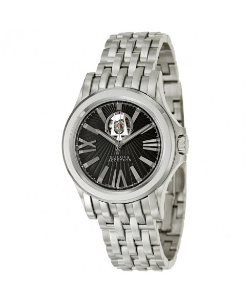 Bulova Accutron, Kirkwood, Men's Watch, Stainless Steel Case, Stainless Steel Bracelet, Swiss Mechanical Automatic (Self-Winding), 63A103